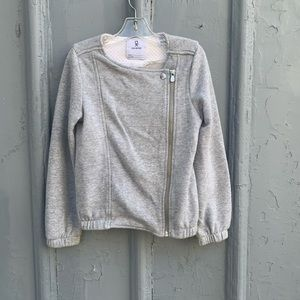 Sparkley Okaidi asymmetric zip sweatshirt